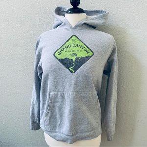 GRAND CANYON NORTH FACE gray sweatshirt kids 14/16